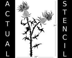 Thistle Stencil