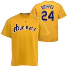 Majestic Ken Griffey Jr. Seattle Mariners Player T-Shirt - Yellow