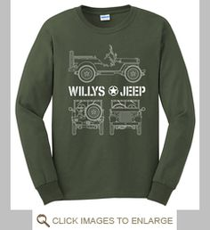 American Legend Jeep Mens PRINTED T-SHIRT Military Issue 4x4 Car Classic Ride