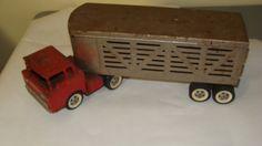 Vintage metal tin structo tractor truck by ASHLANDOREGONANTIQUE, $68.00