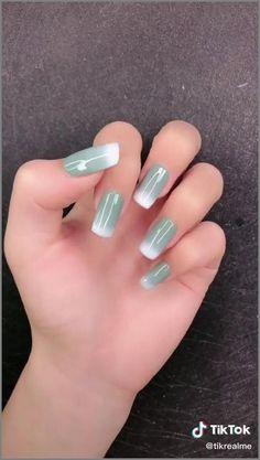 Stylish Nails, Trendy Nails, Cute Nails, Nagellack Design, Nail Art Designs Videos, Grunge Nails, Pretty Nail Art, Nagel Gel, Long Acrylic Nails
