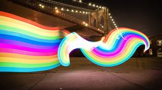 You can make man made rainbows with this giant LED glow stick