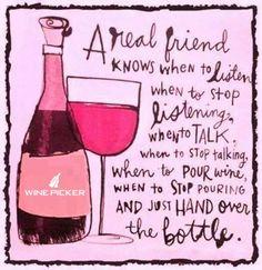 A Real Friend Knows...  #friendswine #winebottle #vinho #wein #wineapp #lovewine #dineandwine #FF #winelovers #winetasting #drinkwine #wineflavour #traditional #winepicker