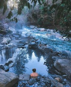 This Super Easy km Hike In BC Will Lead You To A Hidden Hot Spring Oasis Fun even if you hate hiking! Oasis, British Columbia, Cool Places To Visit, Places To Travel, Vancouver Travel, Vancouver Island, Voyage Canada, Canadian Travel, Destinations