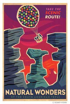 Nuestro tepuyes, ilustrados para la película UP de Disney Pixar. Creado por Paul Conrad / http://superrobotmonster.blogspot.com/