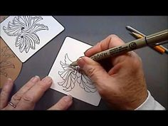 Drawings Tangle Pattern Lessons #117 - YouTube