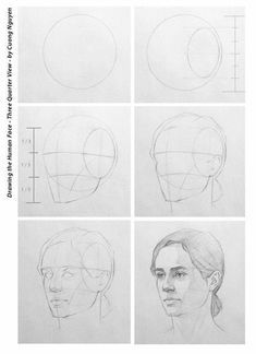 Uplifting Learn To Draw Faces Ideas. Incredible Learn To Draw Faces Ideas. Face Drawing Reference, Shading Drawing, Drawing Heads, Human Figure Drawing, Drawing Faces, Human Face Drawing, Anatomy Reference, Human Face Sketch, Drawing Art