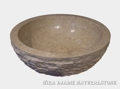 Sink Bowl Outside Alur Marmo Color : Cream Size: Ø 35 cm X H. 15 cm Ø 40 cm X H. 15 cm Ø 45 cm X H. 15 cm