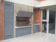 Parrilla Interior, Bbq Places, Fireplace Grate, Fire Cooking, Wood Fired Oven, Firewood, Ideas Para, Shed, Outdoor Structures