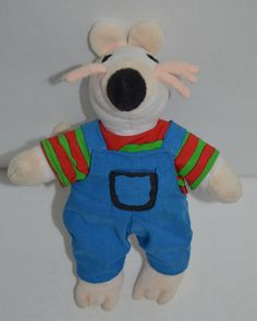 """1996 LUCY COUSINS Plush MAISY MOUSE Crocodile Creek Stuffed Book Animal 7"""" #CrocodileCreek http://stores.ebay.com/Lost-Loves-Toy-Chest/_i.html?image2.x=0&image2.y=0&_nkw=maisy"""