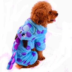 New Dog Coverall Blue Soft Flannel Winter Dinosour Pets Puppy Small Animals Clothing. Type:DogsMaterial:FleecePattern:Animalpet product:dog coverallPlace of Origin:Zhejiang, China (Mainland)Size:XXS/XS/S/M/LMaterial:FlannelColor:BlueSeason:Fall WinterElastic:NoStyle:OverallPattern:MinionsBrand Name:Best Baby
