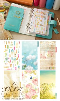 Personal Planner Kit : Light Teal - Personal Planner Kits - Personal Planners & Folios - What's New!