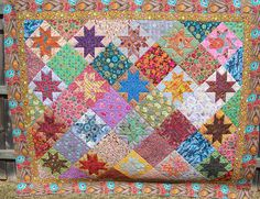 FASSETT OHIO STARS - Made by Margie Bassett - quilted by DLQ by DLQuilts, via Flickr