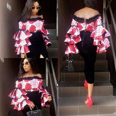 Amazing Sweetheart Ankara Top Styles for Fashion Divas.Amazing Sweetheart Ankara Top Styles for Fashion Divas African Wear Dresses, Ankara Dress Styles, Ankara Tops, Latest African Fashion Dresses, African Print Fashion, Africa Fashion, African Attire, Ankara Fashion, African Tops