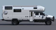 The EarthRoamer of the future will make your jaw drop. We got a peek at the 2016 camper model. Off Road Camping, Truck Camping, Big Trucks, Ford Trucks, 6x6 Truck, Overland Trailer, Adventure Campers, Expedition Vehicle, Camper Trailers
