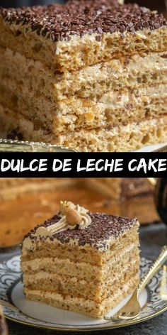 Dulce de Leche Cake is one of the best caramel cakes out there. It has dulce de leche in the cake, soaking syrup and the cream, and the hazelnuts add a very pleasant crunch. This cake is among 5 of my. Cake Recipes From Scratch, Easy Cake Recipes, Sweet Recipes, Baking Recipes, Fun Desserts, Delicious Desserts, Dessert Recipes, Cheesecake Desserts, Raspberry Cheesecake