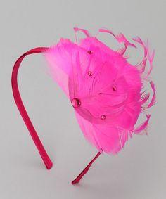 Pink Flamingo Feather Headband