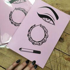 Sharp enough to kill a man - A5 eyeliner notebook