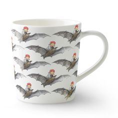 Catherina Kippel's Elsa Beskow Mug with a handle in new bone china.