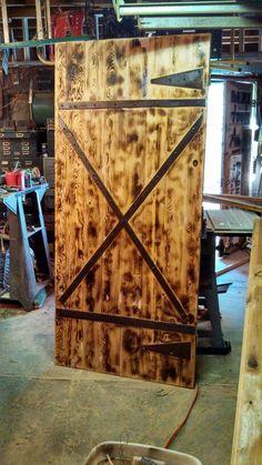 barn front doorrustic style double entry doors  Rustic Doors with Security