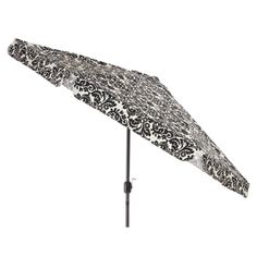 pillow perfect black white damask 9 foot patio umbrella by pillow perfect - Designer Patio Umbrellas
