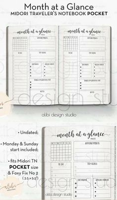 This spread is so perfect - everything you need all nice and neat on one page and pocket size! It's the simple things that make me happy :) POCKET TN, Month at a Glance, Travelers Notebook, Monthly Planner, Midori Inserts, TN Inserts, To Do List, Pocket Inserts, Bullet Journal instant download #affiliate #bulletjournalmonthlylog #bujoprintables #planneraddict #midori #tnpocket