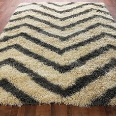 Chevron Stripe Shag Rug: 4 Colors  This could be awesome in their orange color! Maybe even a DIY paint possibility?