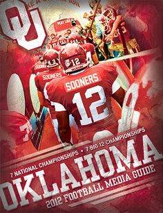 Cover of the 2012 OU Football Guide by OU Athletics Graphic Design.