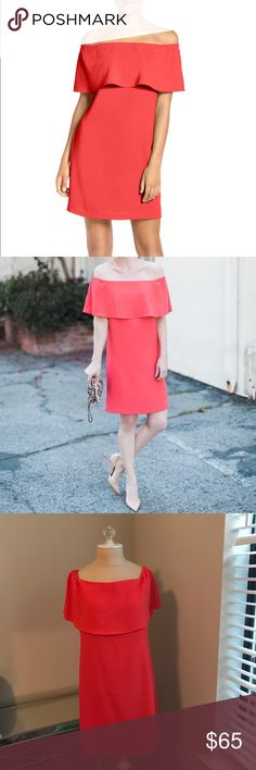 Coral dress Charles Henry off the shoulder dress. Color is a true coral. Worn once, like new condition!                       •n o  t r a d e s• •s m o k e  f r e e / p e t  f r e e  h o m e•   •s a m e / n e x t  d a y  s h i p p i n g• Dresses Strapless