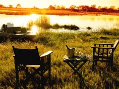 Finish the day off in style with a cold drink & an African sunset on one of our Botswana luxury safaris. Travel Ideas, Travel Inspiration, Parts Of The Earth, African Sunset, African Safari, Outdoor Adventures, Holiday Travel, South America, Blood