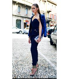 @Who What Wear - Kristina Bazan of Kayture  A sleek jumpsuit and blazer reads equal parts boardroom and bedroom.
