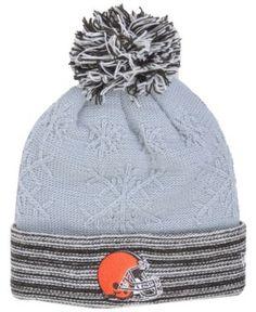 New Era Women's Cleveland Browns Snow Crown Redux Knit Hat - Gray Adjustable