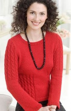 Free Knitting Pattern - Women's Sweaters: Chic Cable Sweater