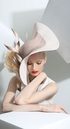 Philip Treacy, S/S 2015. Photograph by Kurtiss Lloyd. Model: Helena Greyhorse. Make-up: Silvia Ileana Stella. Set designer: Martha Webb. #passion4hats
