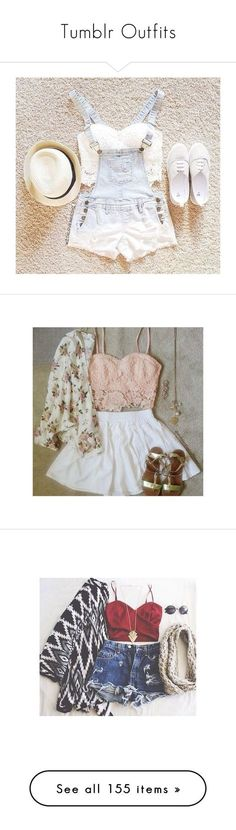 """""""Tumblr Outfits"""" by fl0ridakilos ❤ liked on Polyvore featuring tops, white shirt, white crop tank, bustier crop top, denim shirt, bralette crop top, outfits, pictures, instagram and tumblr outfits"""