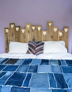 Looking For DIY Bedroom Ideas? Try Out This Precious Hearts Easy DIY  Headboard!