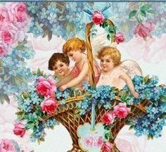 Cherub Roses Art