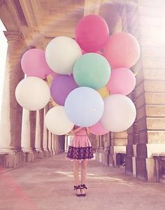 If the wedding is outdoors, have the children in your bridal party carry balloons and release them before reaching the alter.  Beautiful!