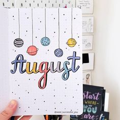 Plan With Me: My August 2019 Bullet Journal Setup Space inspired August Bullet Journal Setup. For Bujo ideas, check out the August Cover Page, Monthly Log, Weekly Log and Habit Tracker. Bullet Journal August, Bullet Journal School, Bullet Journal Inspo, Minimalist Bullet Journal, Bullet Journal Cover Ideas, Bullet Journal Writing, Bullet Journal Headers, Bullet Journal Aesthetic, Bullet Journal Layout