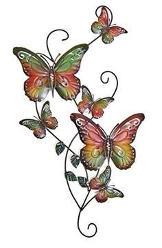 I love this piece of metal butterfly wall art. It is so cute! NEW Metal Wall Decor Butterfly Sculpture 29x15