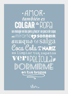 LÁMINA Ilustración. Tipografía. Amor también es por IzarixShop, €10.00