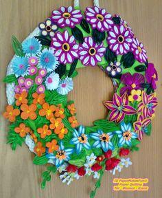 Tür - Blumen - Kranz
