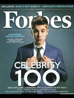 Justin bieber on the Forbes magazine