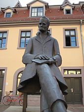 Nietzsche sculpture at Naumburg, Germany. Astrogeographic position: located in the combination of earth sign Virgo sign of reason, savings, conservation with emotional water sign Cancer sign of feeling at home. emotional authenticity and individuality. FL 4.
