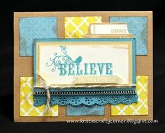 Make It From Your Heart vol 2 how-to book, Skylark paper pack, Believe in Yourself stamp set, CTMH embellishments...perfect combo :)