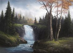 """""""Sparkling Waterfall"""" by Kevin Hill paintwithkevin.com"""