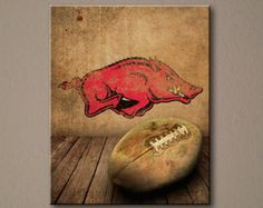 Arkansas Razorbacks Rustic Canvas Print 16x20 - Ready to Hang
