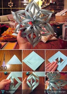 http://www.echopaul.com/ Giant 3D Paper Snowflake: Perfect for the Winter Season #Creative #Art #3DArt @touchtalent.com.com