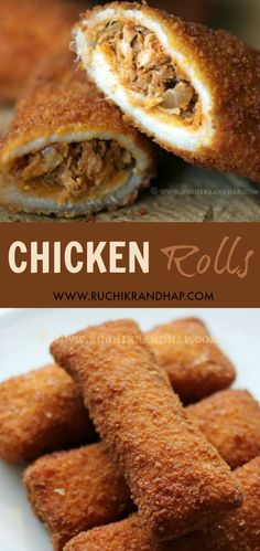 Grab a bite of these delicious chicken filled bread rolls. They serve as a wonderful and filling tea time snack and a lunchbox option for kids too! Breakfast Recipes, Snack Recipes, Cooking Recipes, Snacks Ideas, Lunch Ideas, Pre Cooked Chicken, How To Cook Chicken, Ramadan Recipes, Ramadan Food