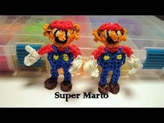 Rainbow Loom Super Mario Figure - How to- Action Figure Series - YouTube